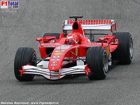 Ferrari testet das neue Aerodynamik-Paket mit Michael Schumacher in Mugello