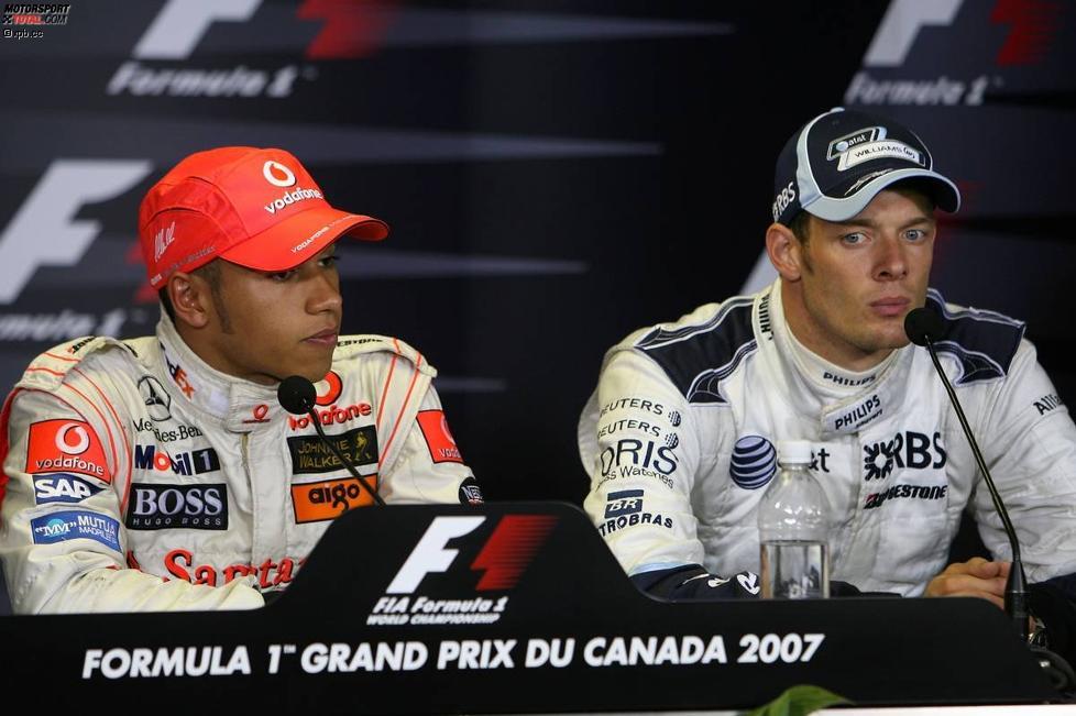 Lewis Hamilton (McLaren-Mercedes) und Alexander Wurz (Williams)