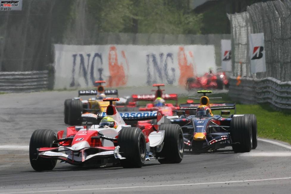 Ralf Schumacher (Toyota) und Mark Webber (Red Bull)