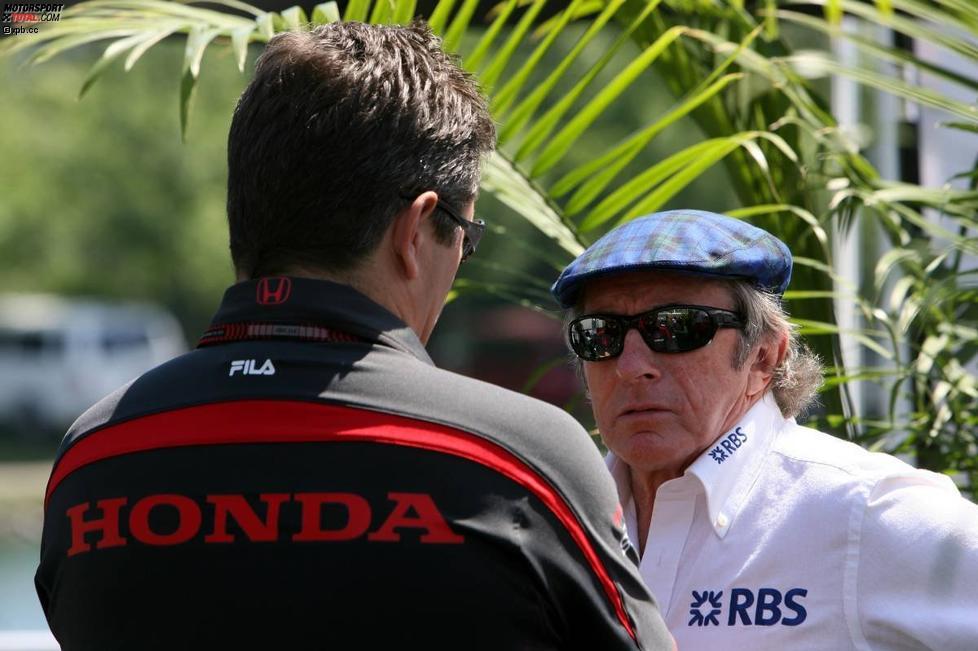 Gil de Ferran (Sportlicher Direktor) (Honda F1 Team) und Jackie Stewart