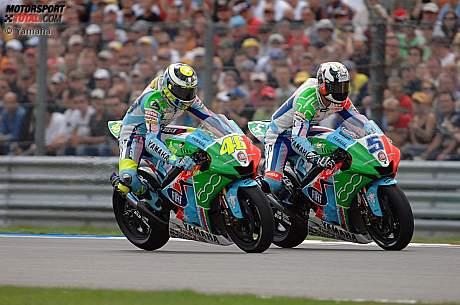 Valentino Rossi und Colin Edwards (Yamaha)