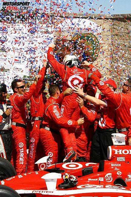 Scott Dixon in der Victory Lane
