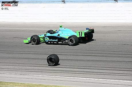 Ryan Hunter-Reay und das Rad von Tomas Scheckter