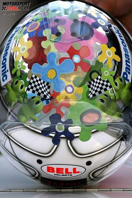 Jarno Trullis (Toyota) besonderes Helmdesign in Fuji