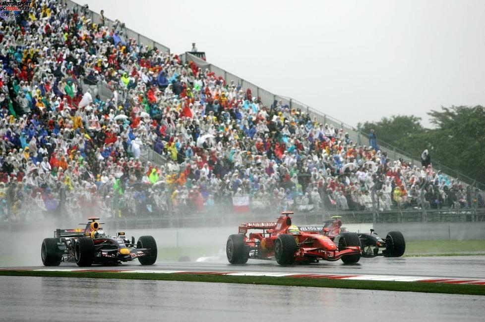 Felipe Massa (Ferrari) und David Coulthard (Red Bull)
