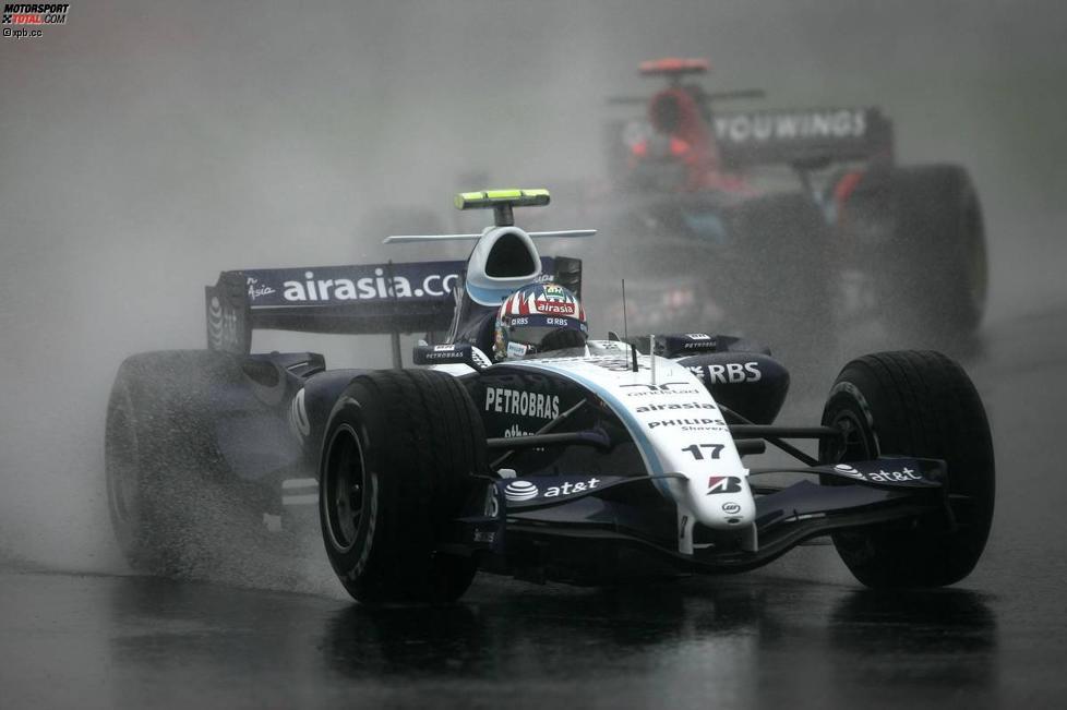 Alexander Wurz (Williams) vor Vitantonio Liuzzi (Toro Rosso)