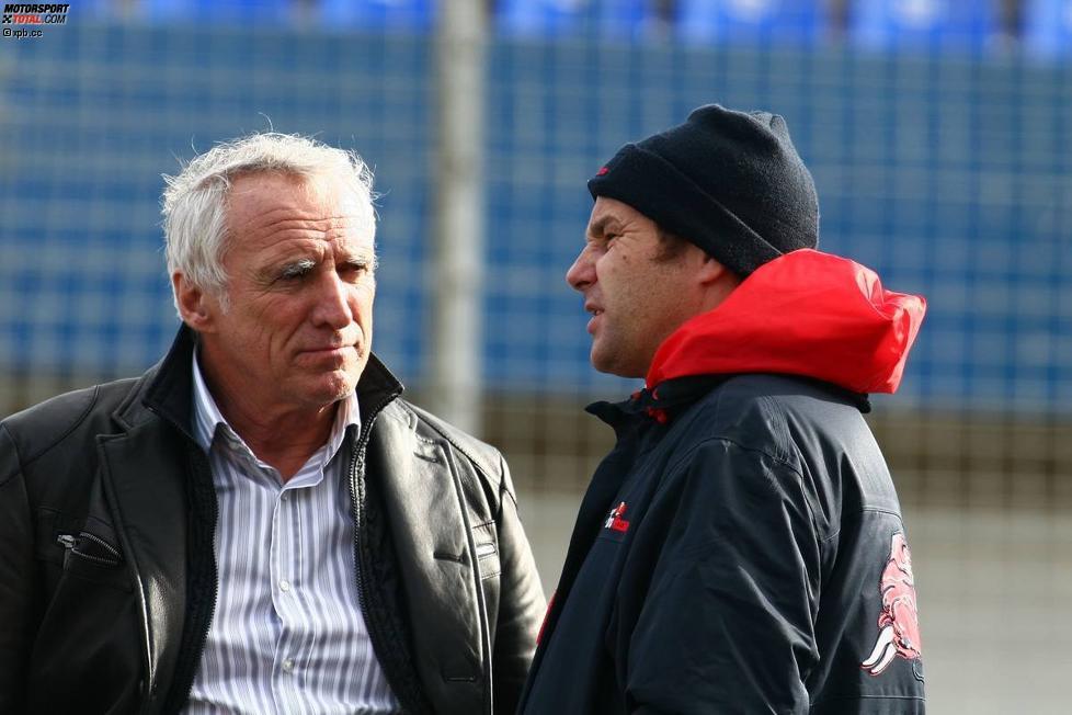 Dietrich Mateschitz (Red Bull-Boss) und Gerhard Berger (Teamanteilseigner) (Toro Rosso)