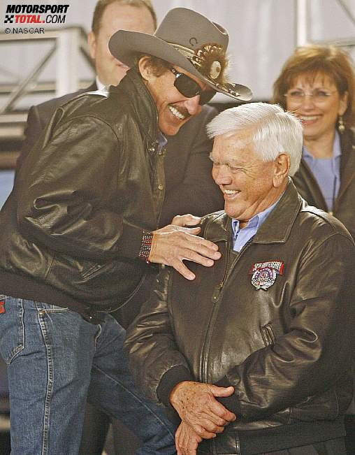 Richard Petty und Junior Johnson als Ehrengäste