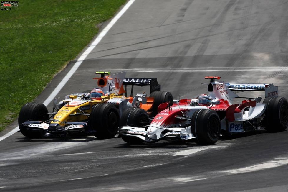 Nelson Piquet Jr. (Renault) und Jarno Trulli (Toyota)