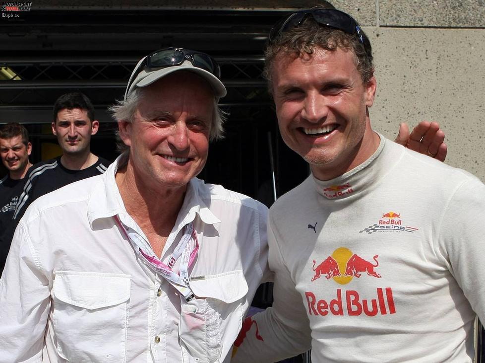 Filmstar Michael Douglas und David Coulthard (Red Bull)