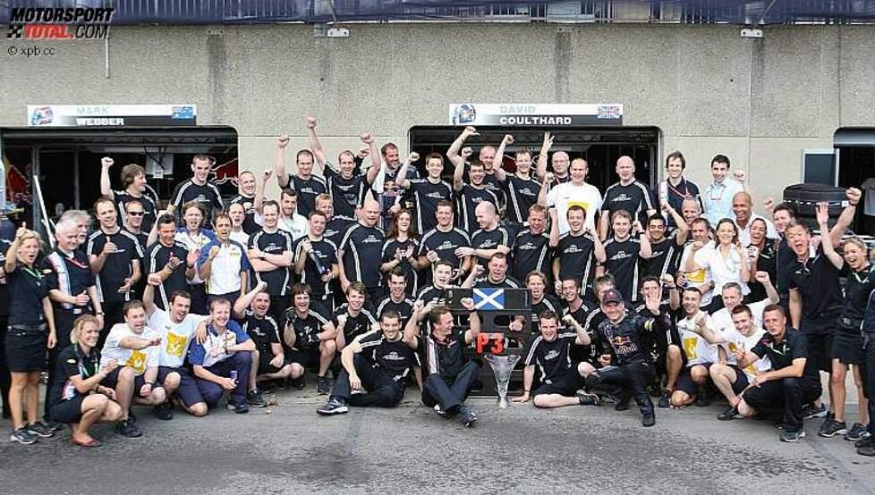 Jubel um David Coulthard (Red Bull)