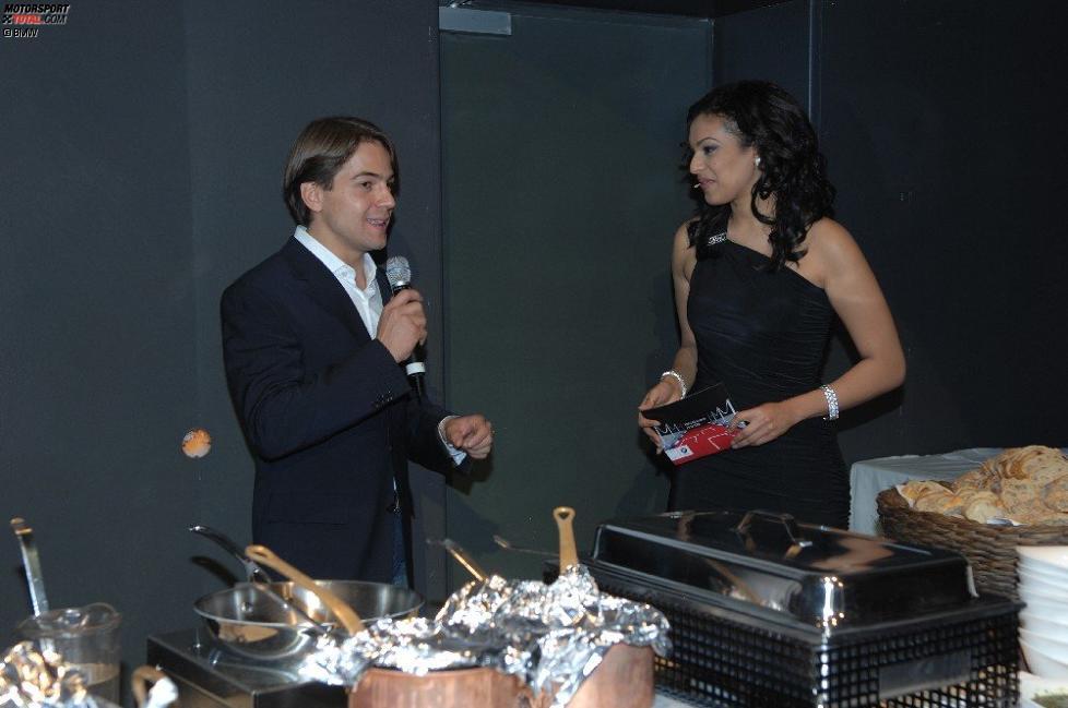Augusto Farfus mit Moderatorin Kadra Sufi