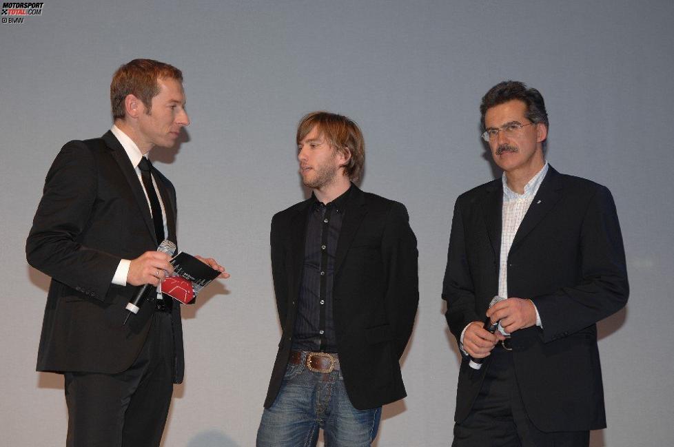 Nick Heidfeld Mario Theissen (BMW Motorsport Direktor) (BMW Sauber F1 Team) und Markus Othmer