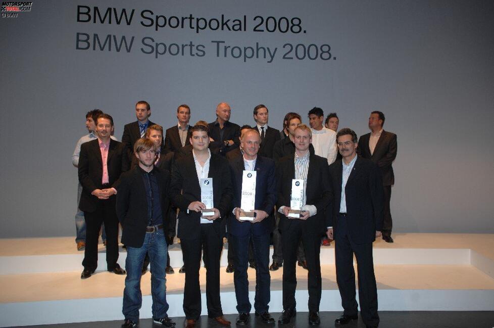 Nick Heidfeld Mario Theissen (BMW Motorsport Direktor) Franz Engstler (BMW Sauber F1 Team)