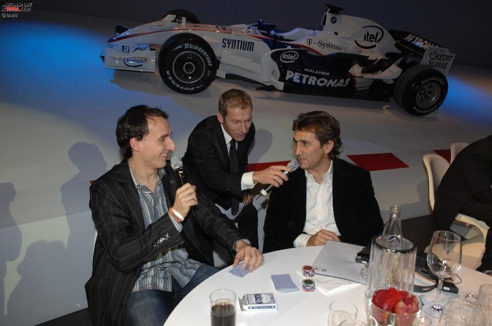 Robert Kubica (BMW Sauber F1 Team) und Alex Zanardi
