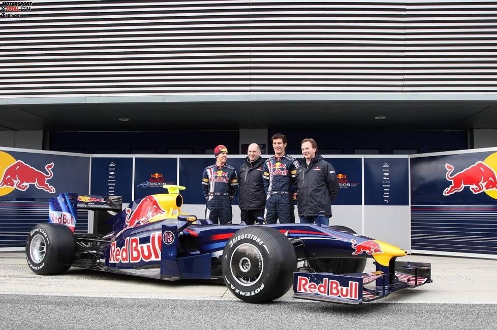 Gruppenbild mit dem Red Bull RB5