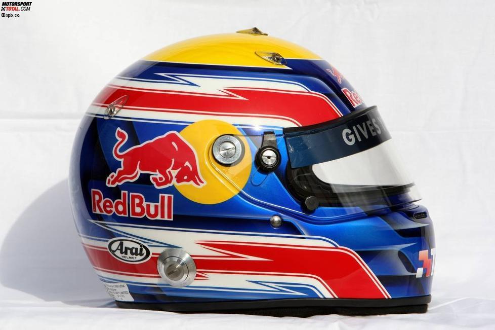 Helm von Mark Webber (Red Bull)