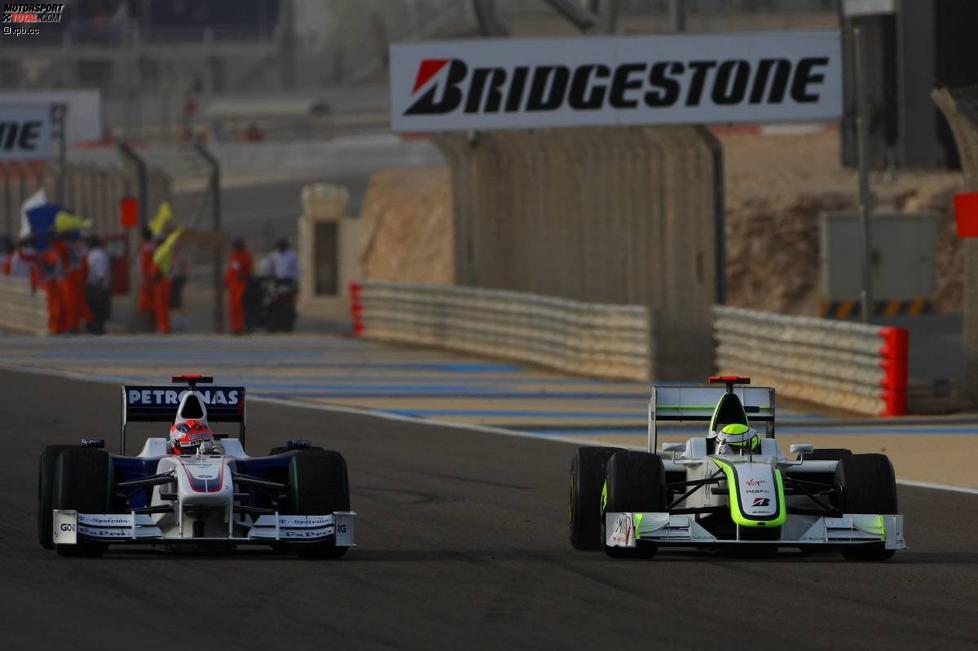 Robert Kubica (BMW Sauber F1 Team) gratuliert Jenson Button (Brawn)