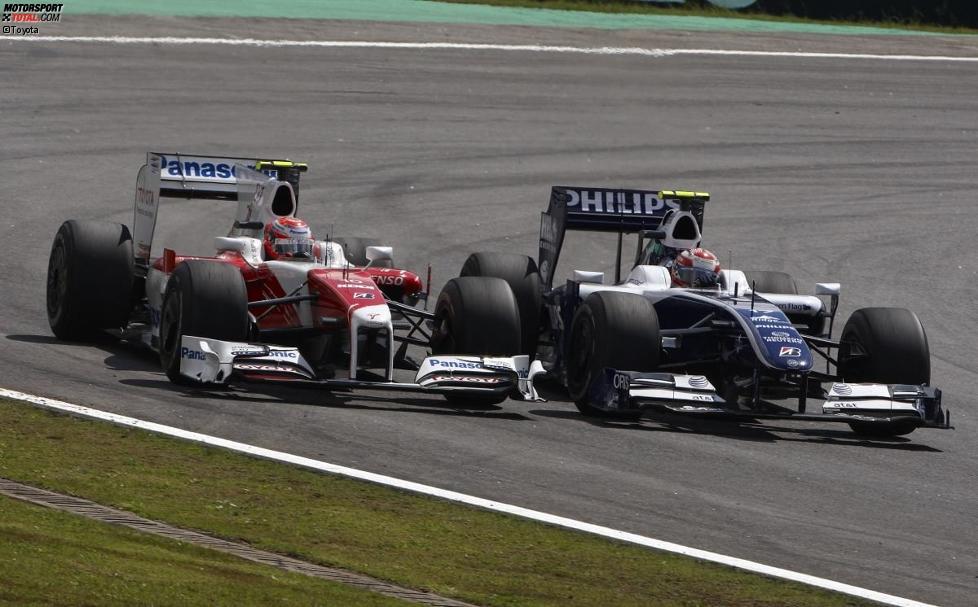 Kamui Kobayashi (Toyota) und Kazuki Nakajima (Williams)