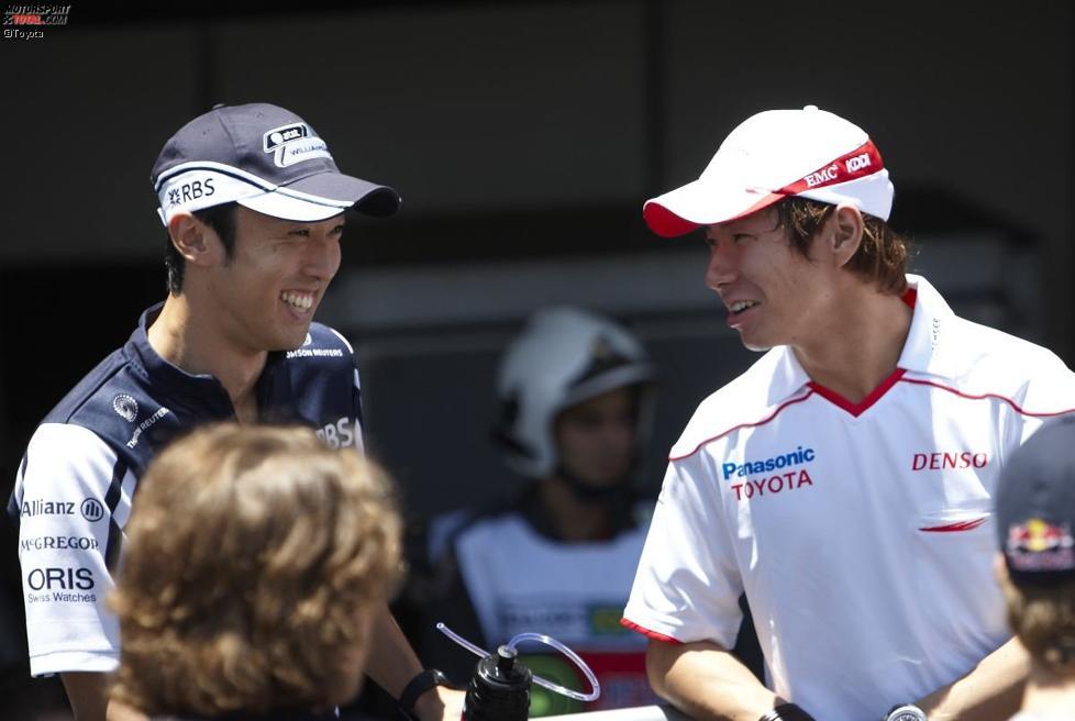 Kazuki Nakajima (Williams) und Kamui Kobayashi (Toyota)