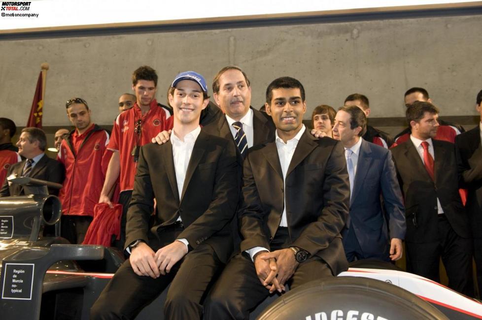 Bruno Senna und Karun Chandhok