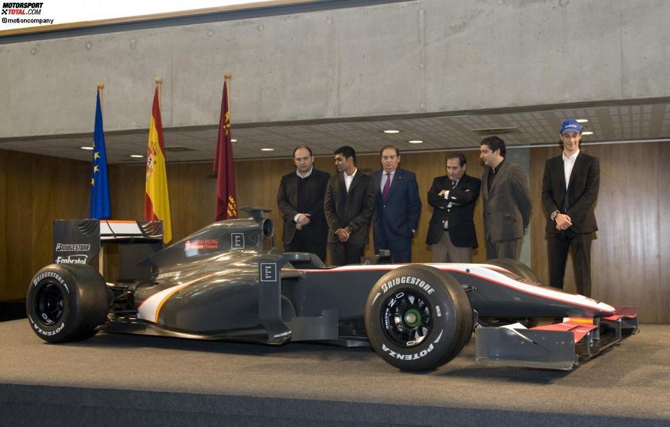 Das neue Formel-1-Auto des HRT-Teams