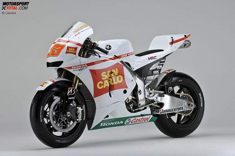 Die neue Honda RC212V des Gresini-Teams.