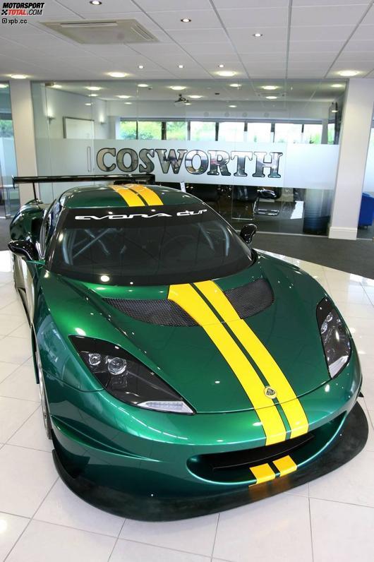 Ein Lotus Evora bei Cosworth