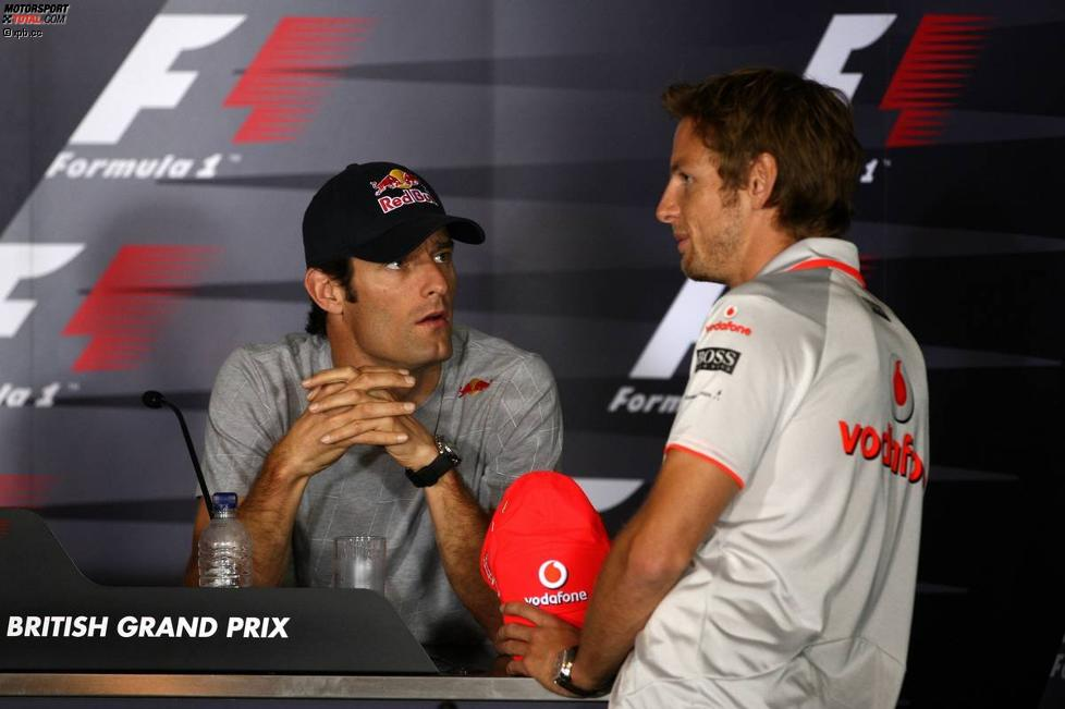 Mark Webber (Red Bull) und Jenson Button (McLaren)