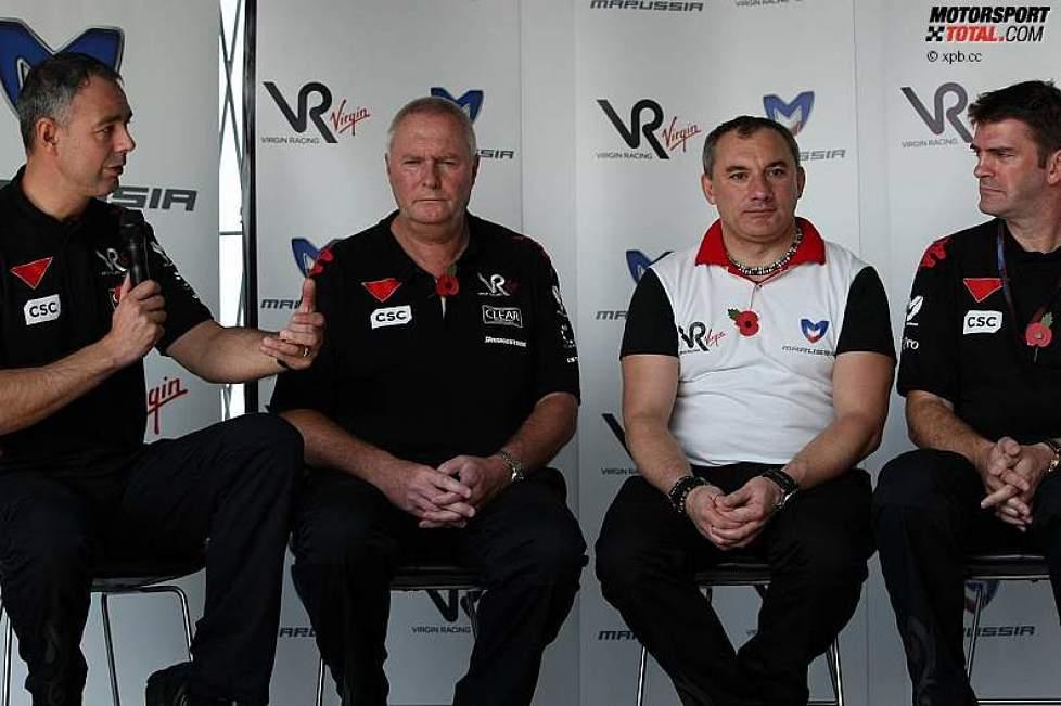 Virgin-PK: Nick Wirth, John Booth, Nikolai Fomenko und Graeme Lowdon