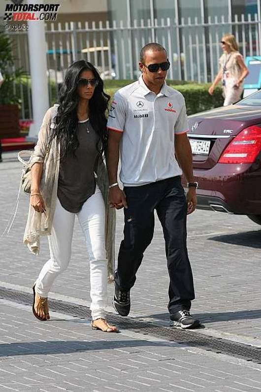 Lewis Hamilton (McLaren) mit Freundin Nicole Scherzinger