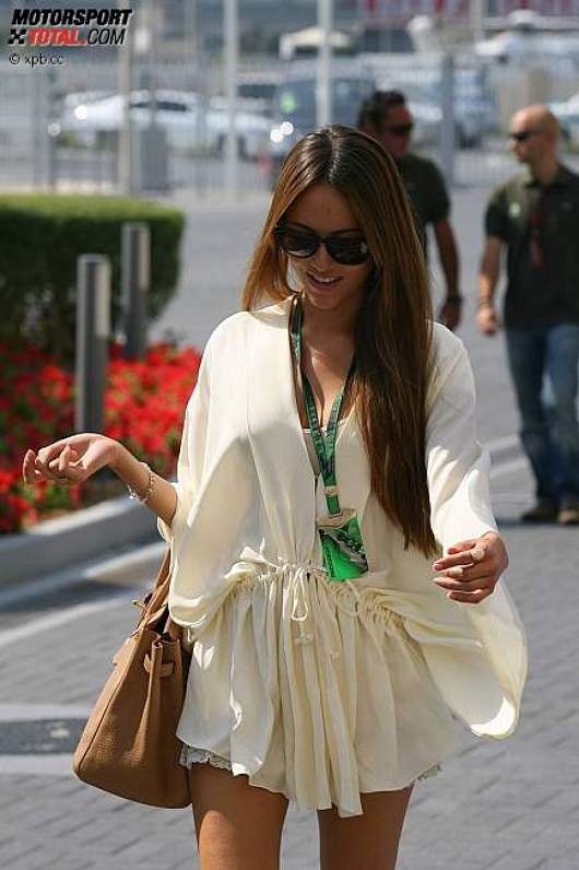 Jessica Michibata, Freundin von Jenson Button (McLaren)
