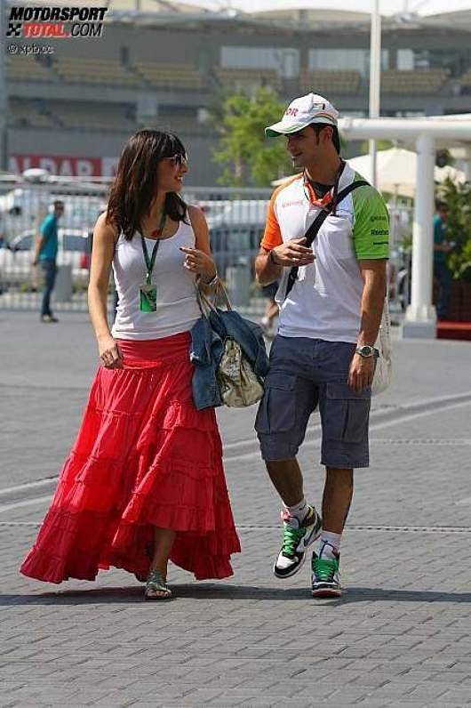 Vitantonio Liuzzi (Force India) mit freundin Francesca Caldarell