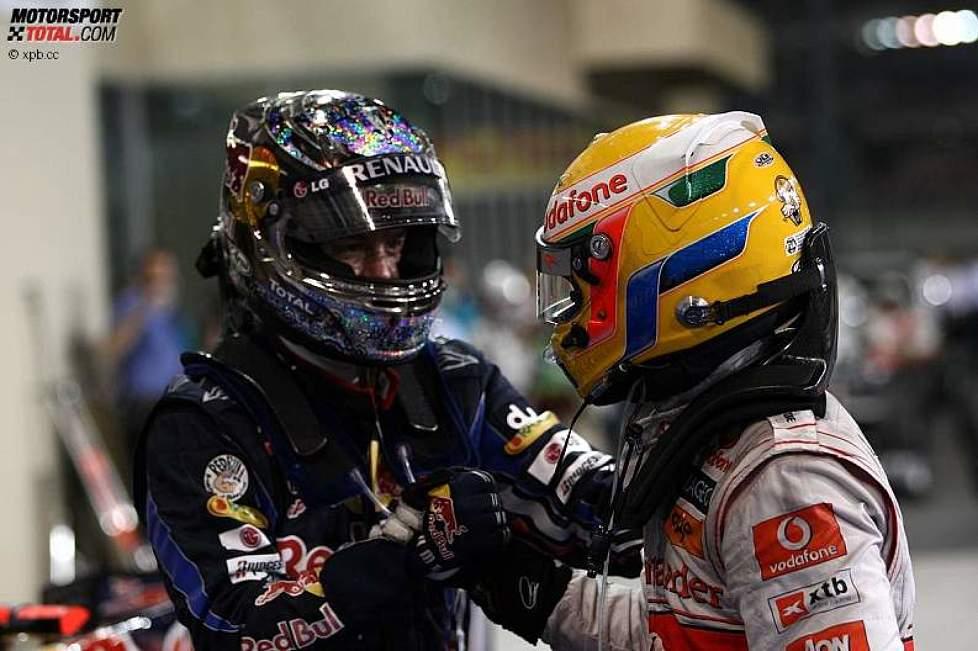 Sebastian Vettel (Red Bull) und Lewis Hamilton (McLaren)