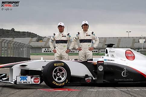 Sergio Perez und Kamui Kobayashi (Sauber)