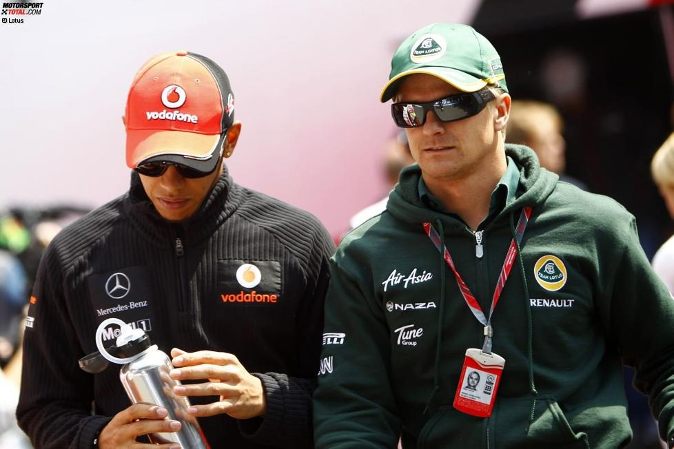 Lewis Hamilton (McLaren) und Heikki Kovalainen (Lotus)