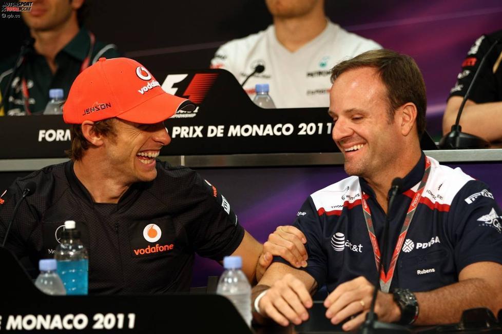 Jenson Button (McLaren) und Rubens Barrichello (Williams)