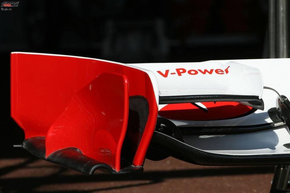 Frntflügeldetail von Ferrari