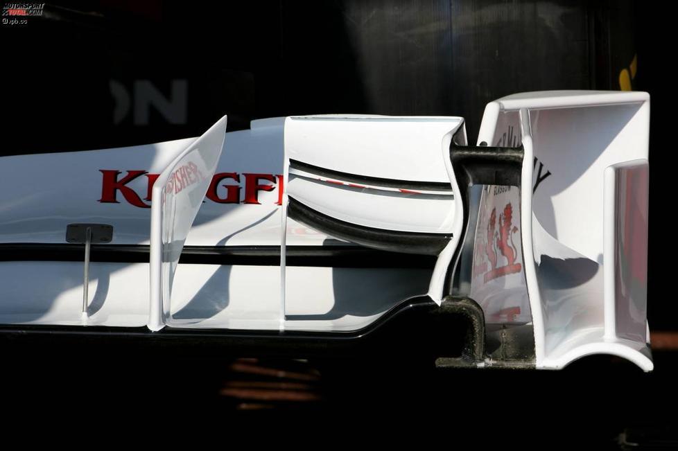 Frntflügeldetail von Force India