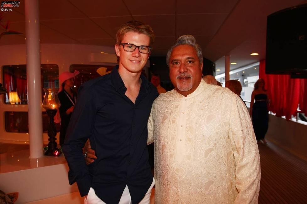 Nico Hülkenberg und Vijay Mallya (Teameigentümer) (Force India)