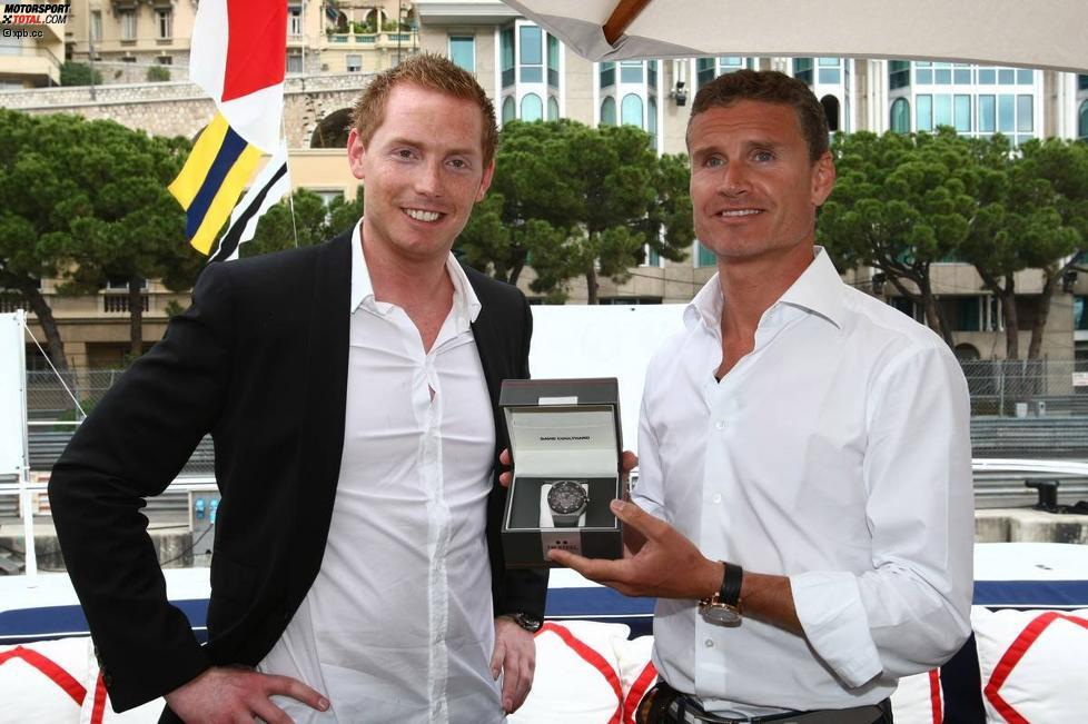 David Coulthard mit Jordy Cobelens von TW Steel