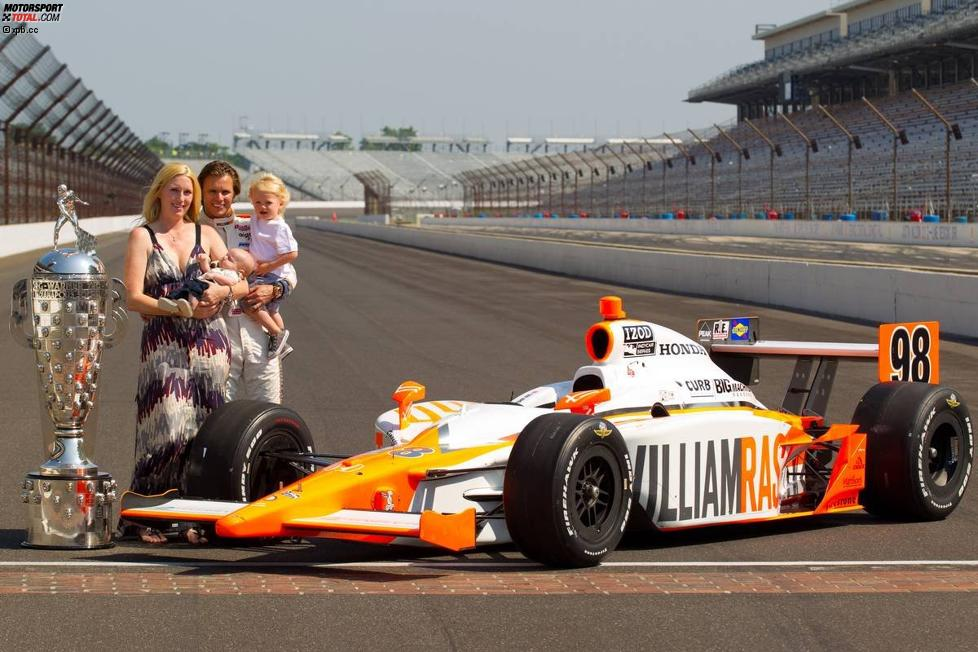 Dan Wheldon mit Familie