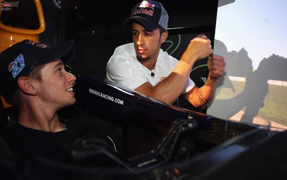 Casey Stoner (Honda) und Andrea Dovizioso (Honda)