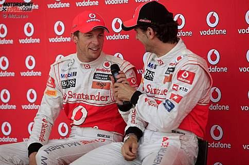Jenson Button und Pedro de la Rosa (McLaren)