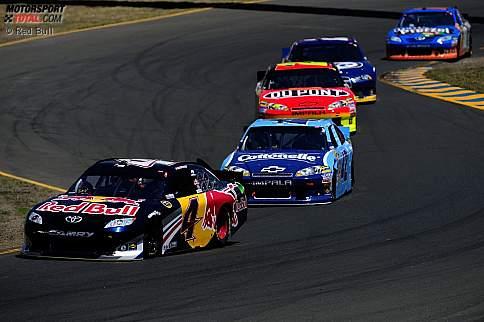 Kasey Kahne (Red Bull), Juan Pablo Montoya (EGR), Jeff Gordon (Hendrick), Brad Keselowski (Penske), Kyle Busch (Gibbs)