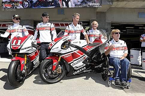 Jorge Lorenzo und Ben Spies (Yamaha)