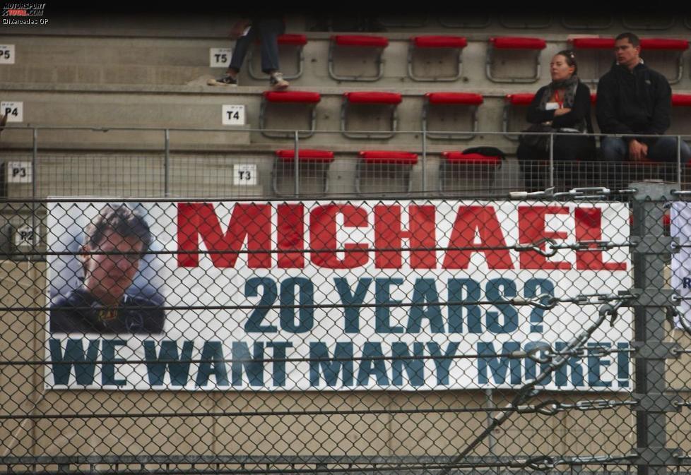 Fan-Banner für Michael Schumacher (Mercedes)