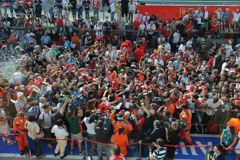 Fans in Monza