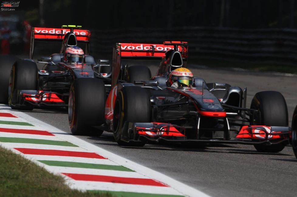 Lewis Hamilton (McLaren) und Jenson Button (McLaren)