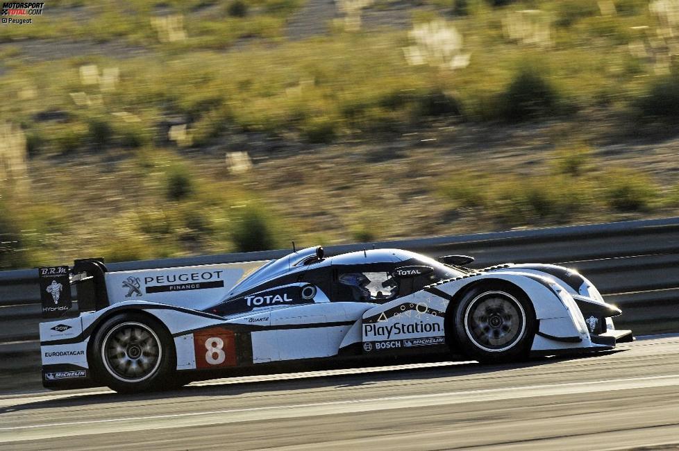 Stephane Sarrazin und Nicolas Minassian testen den 908 HYbrid4 in Estoril